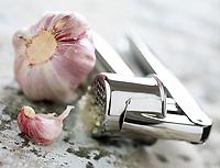 Cuisine/Gastronomie: Ail Rose et Presse-Ail