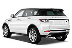 Rear three quarter view of a 2011 Land Rover Range Rover Evoque SUV