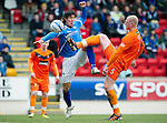 St Johnstone v Dundee United...11.02.12.. SPL.Garry Kenneth and Fran Sandaza.Picture by Graeme Hart..Copyright Perthshire Picture Agency.Tel: 01738 623350  Mobile: 07990 594431