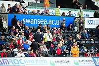 fans of Swansea city infront of Swansea.ac.uk advertising during the Sky Bet Championship match between Swansea City and Nottingham Forest at the Liberty Stadium, in Swansea, Wales, UK. Saturday 15 September 2018