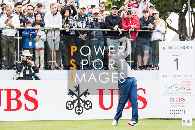 Sergio Garcia of Spain tees off during the day three of UBS Hong Kong Open 2017 at the Hong Kong Golf Club on 25 November 2017, in Hong Kong, Hong Kong. Photo by Yu Chun Christopher Wong / Power Sport Images