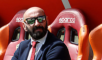 Calcio, Serie A: Roma, stadio Olimpico, 30 aprile 2017.<br /> The new sports director of AS Roma, Jose Ramon Rodriguez, Monchi, waits for the start of the Italian Serie A football match between AS Roma and Lazio at Rome's Olympic stadium, April 30, 2017.<br /> UPDATE IMAGES PRESS/Isabella Bonotto