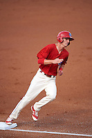 Clearwater Threshers center fielder Carlos Tocci (15) running the bases during a game against the Charlotte Stone Crabs on April 12, 2016 at Bright House Field in Clearwater, Florida.  Charlotte defeated Clearwater 2-1.  (Mike Janes/Four Seam Images)