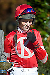 05 November2011:  Dance Faster and Paddy Young win the Madison Plate at Montpelier Hunt races in Orange, Va. Dance Faster is owned by Donna Kachel and trained by Ricky Hendriks.   Susan M. Carter/Eclipse Sportswire