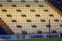 Gaps in the seating to facilitate the socially distanced return of fans under Tier 2 restrictions during Colchester United vs Crawley Town, Sky Bet EFL League 2 Football at the JobServe Community Stadium on 1st December 2020