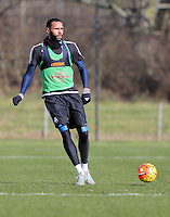 Pictured: Kyle Bartley Thursday 25 February<br /> Re: Swansea City FC training at Fairwood, near Swansea, Wales, UK, ahead of their game against Tottenham Hotspur.