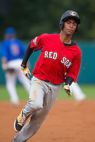 DJ Artis (10) of Southeast Guilford High School in Greensboro, North Carolina playing for the Boston Red Sox scout team at the South Atlantic Border Battle at Doak Field on November 1, 2014.  (Brian Westerholt/Four Seam Images)