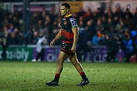 Ashton Hewitt of Dragons during the European Challenge Cup match between Dragons and Bordeaux Begles at Rodney Parade, Newport, Wales, UK. 20 January 2018
