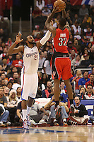 12/09/12 Los Angeles, CA: Los Angeles Clippers center Ronny Turiaf #21during an NBA game between the Los Angeles Clippers and the Toronto Raptors played at Staples Center. The Clippers defeated the Raptors 102-83.