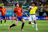 Saul Iniguez of Spain competes for the ball with Juan Guillermo Cuadrado of Colombia during the friendly match between Spain and Colombia at Nueva Condomina Stadium in Murcia, jun 07, 2017. Spain. (ALTERPHOTOS/Rodrigo Jimenez) (NortePhoto.com) (NortePhoto.com)