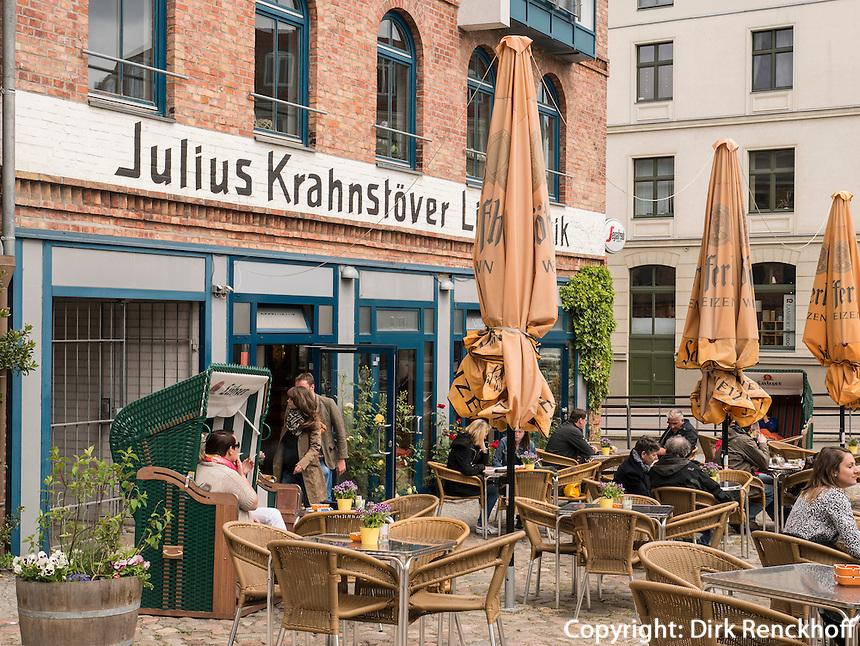 Café im Krahnstöverhaus in Rostock, Mecklenburg-Vorpommern, Deutschland