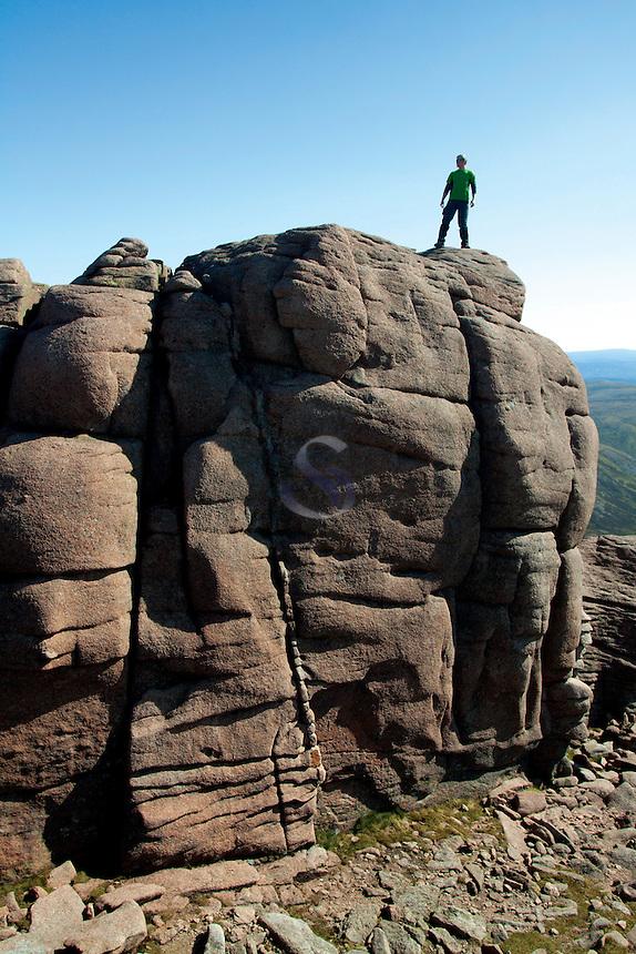 The summit tor of Beinn Mheadhoin, Cairngorm National Park, Badenoch & Speyside
