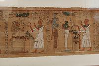 ITALIA - Torino - Museo Egizio ll libro dei Morti - Papiro