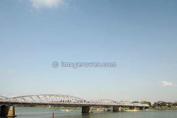 Asia, Vietnam, Hue. Trang Tien bridge across the Huong or Perfume River.