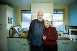 "Alexander ""Sasha"" Shulgin, Ph.D. and his wife - pharmacologist and chemist, worked with MDMA (Ecstasy) and other psychoactive chemicals.  On location photograph by San Francisco Bay Area - corporate, annual report, editorial and advertising photographer Robert Houser. Alexander ""Sasha"" Shulgin, Ph.D. - pharmacologist and chemist, worked with MDMA (Ecstasy) and other psychoactive chemicals: Executive portrait photographs by San Francisco - corporate and annual report - photographer Robert Houser."