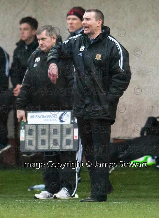 Alloa Manager Barry Smith.