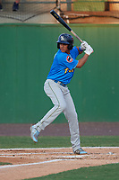 Myrtle Beach Pelicans Aramis Ademan (11) at bat during a Carolina League game against the Potomac Nationals on August 14, 2019 at Northwest Federal Field at Pfitzner Stadium in Woodbridge, Virginia.  Potomac defeated Myrtle Beach 7-0.  (Mike Janes/Four Seam Images)