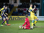 Ross County v St Johnstone…27.12.17…  Global Energy Stadium…  SPFL<br />Steven MacLean is denies a goal by the offside flag<br />Picture by Graeme Hart. <br />Copyright Perthshire Picture Agency<br />Tel: 01738 623350  Mobile: 07990 594431