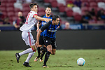 FC Internazionale Forward Eder Citadin Martins (R) fights for the ball with Bayern Munich Forward Milos Pantovic (L) during the International Champions Cup match between FC Bayern and FC Internazionale at National Stadium on July 27, 2017 in Singapore. Photo by Marcio Rodrigo Machado / Power Sport Images