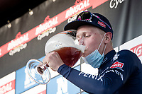 Tim Merlier (BEL/Alpecin-Fenix) drinking from the winners cup after winning the 53rd Le Samyn 2021<br /> <br /> ME (1.1)<br /> 1 day race from Quaregnon to Dour (BEL/205km)<br /> <br /> ©kramon
