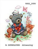 GIORDANO, CUTE ANIMALS, LUSTIGE TIERE, ANIMALITOS DIVERTIDOS, Teddies, paintings+++++,USGI1608,#AC# teddy bears