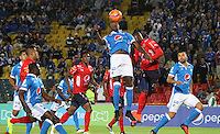 BOGOTA -COLOMBIA, 5-02-2017.Action game beteween  Millonarios  and Independiente Medellin  during match for the date 1 of the Aguila League I 2017 played at Nemesio Camacho El Campin stadium . Photo:VizzorImage / Felipe Caicedo  / Staff