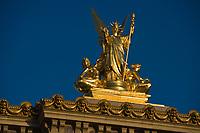 Europe/France/Ile-de-France/75008 /Paris: L'Opéra de Paris- Opéra Garnier -Détail de la Statue de l'Harmonie par Guernery