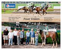 Power Emblem winning at Delaware Park on 6/13/13