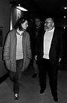 ISABELLA ROSSELLINI CON RENZO ARBORE E SERGIO LEONE<br /> ROMA 1981