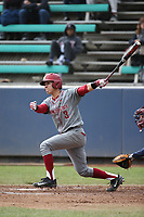 Andres Alvarez (3) of the Washington State Cougars bats against the Loyola Marymount Lions at Page Stadium on February 26, 2017 in Los Angeles, California. Loyola defeated Washington State, 7-4. (Larry Goren/Four Seam Images)