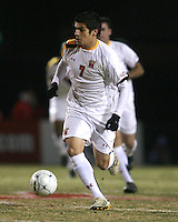 Billy Cortes #7 of the University of Maryland during an NCAA 3rd. round match against Penn State at Ludwig Field, University of Maryland, College Park, Maryland on November 28 2010.Maryland won 1-0.
