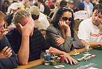 A player agonizes over making a call of Kristy Gazes' all in.