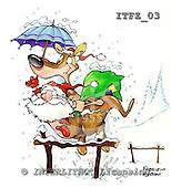 Fabrizio, Comics, CHRISTMAS SANTA, SNOWMAN, paintings, ITFZ03,#x# stickers Weihnachten, Navidad, illustrations, pinturas