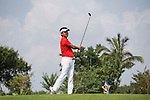 Man Wenjun plays during the World Celebrity Pro-Am 2016 Mission Hills China Golf Tournament on 23 October 2016, in Haikou, Hainan province, China. Photo by Victor Fraile / Power Sport Images