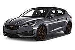 2021 Cupra Leon - 5 Door Hatchback Angular Front automotive stock photos of front three quarter view
