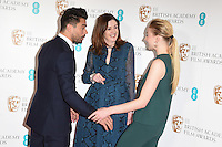 Dominic Cooper, Amanda Berry and Sophie Turner<br /> at the announcement of the nominations for the 2017 EE BAFTA Film Awards, BAFTA, London<br /> <br /> <br /> ©Ash Knotek  D3215  10/01/2017