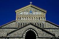 Exterior of the Amalfi Cathedral, Amalfi Coast, Italy.