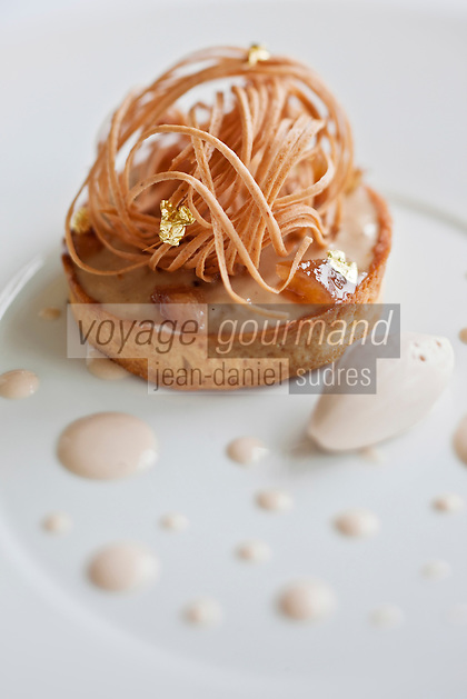 Europe/France/Bretagne/22/Côtes d'Armor/Sables-d'Or-les-Pins/ Fréhel: Pomme, Caramel, Gavotte,  recette de Maximin Hellio Restaurant: La Voile d'Or