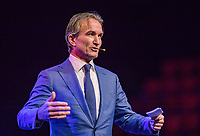 Rotterdam, Netherlands, December 16,  2017, Topsportcentrum,  KNLTB Jaarcongres,  Mark Koevermans keynote speaker<br /> Photo: Tennisimages/Henk Koster