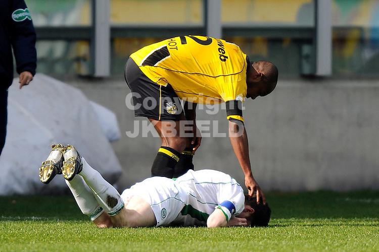 voetbal fc groningen - nac erediivisie seizoen 2007-2008 06-04-2008 .kurt elshot troost arnold kruisiwjk.fotograaf Jan Kanning