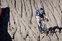 Puck Pieterse (NED/Alpecin-Fenix) in the infamous Zonhoven 'Pit'<br /> <br /> Elite Women's Race<br /> 2021 UCI cyclo-cross World Cup - Zonhoven (BEL)<br /> <br /> ©kramon