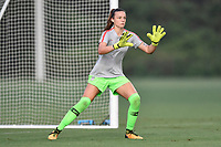 Lakewood Ranch, FL - Wednesday, October 10, 2018:   Julia Dohle warms up prior to a U-17 USWNT match against Colombia.  The U-17 USWNT defeated Colombia 4-1.