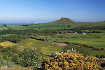 Great Britain, England, North Yorkshire, near Great Ayton: View over Roseberry Topping in the North Yorks National Park