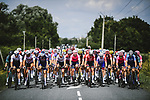 The peloton during Stage 7 of the 2021 Tour de France, running 249.1km from Vierzon to Le Creusot, France. 2nd July 2021.  <br /> Picture: A.S.O./Pauline Ballet | Cyclefile<br /> <br /> All photos usage must carry mandatory copyright credit (© Cyclefile | A.S.O./Pauline Ballet)
