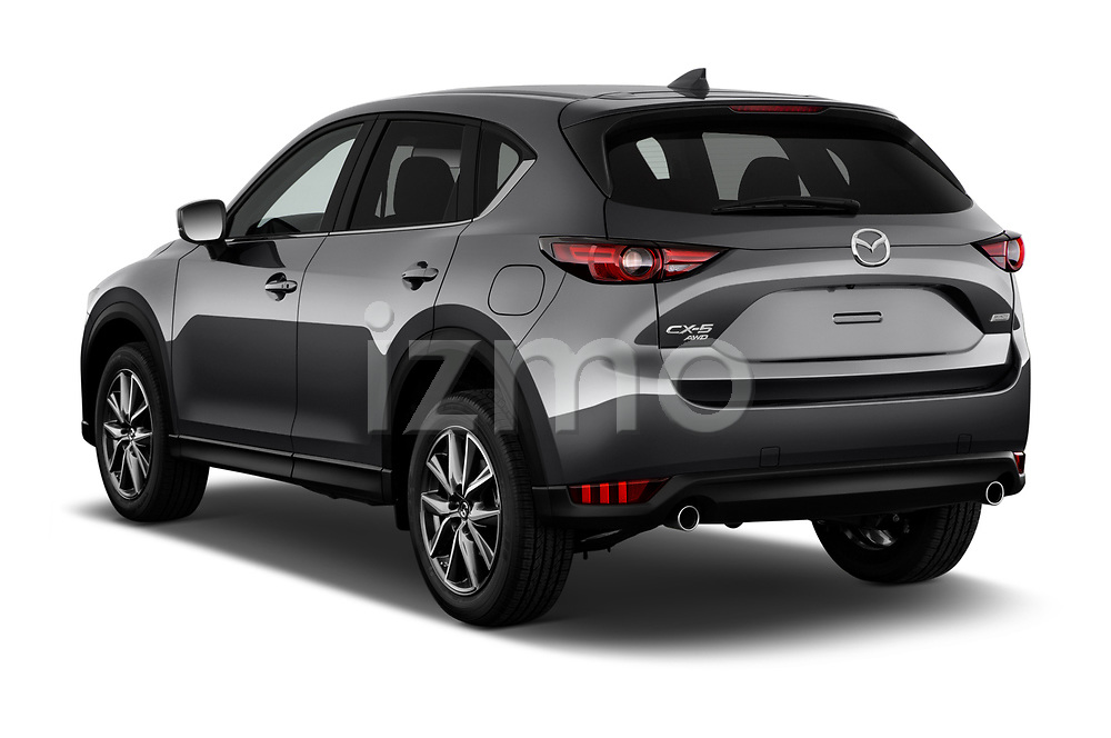 Car pictures of rear three quarter view of 2018 Mazda CX-5 Grand-Touring 5 Door SUV Angular Rear