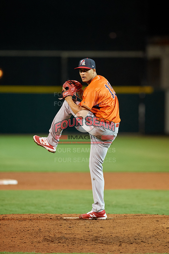 Palm Beach Cardinals pitcher Junior Fernandez (10) during the Florida State League All-Star Game on June 17, 2017 at Joker Marchant Stadium in Lakeland, Florida.  FSL North All-Stars defeated the FSL South All-Stars  5-2.  (Mike Janes/Four Seam Images)