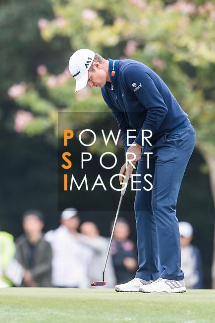 Justin Rose of England plays a shot during the day three of UBS Hong Kong Open 2017 at the Hong Kong Golf Club on 25 November 2017, in Hong Kong, Hong Kong. Photo by Marcio Rodrigo Machado / Power Sport Images