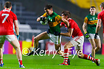 Jack Barry, Kerry in action against Ian MaGuire, Cork, during the Munster GAA Football Senior Championship Semi-Final match between Cork and Kerry at Páirc Uí Chaoimh in Cork.