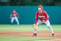 STANFORD, CA - JUNE 6: Nick Brueser during a game between UC Irvine and Stanford Baseball at Sunken Diamond on June 6, 2021 in Stanford, California.