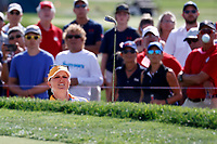 5th September 2021: Toledo, Ohio, USA;  Nanna Koertz Madsen of Team Europe hits out of the sand on the 13th hole during the afternoon Four-ball competition during the Solheim Cup on September 5, 2021 at Inverness Club in Toledo, Ohio. Europe retained the Solheim Cup with a hard-fought 15-13 victory over the United States